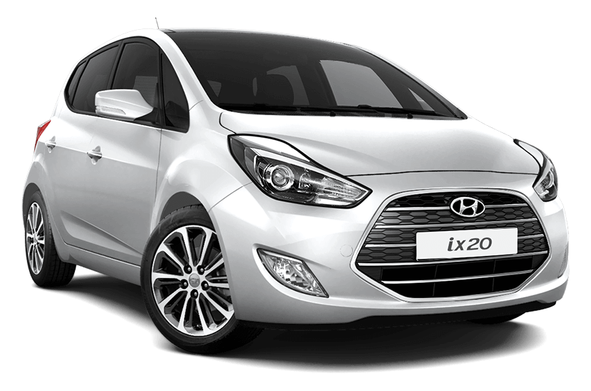 Hyundai ix20 detail of the front