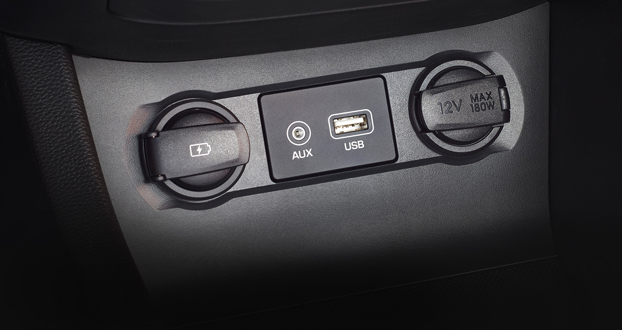USB port and AUX-in