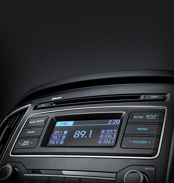 Audio system (MP3 / CD player and Radio)