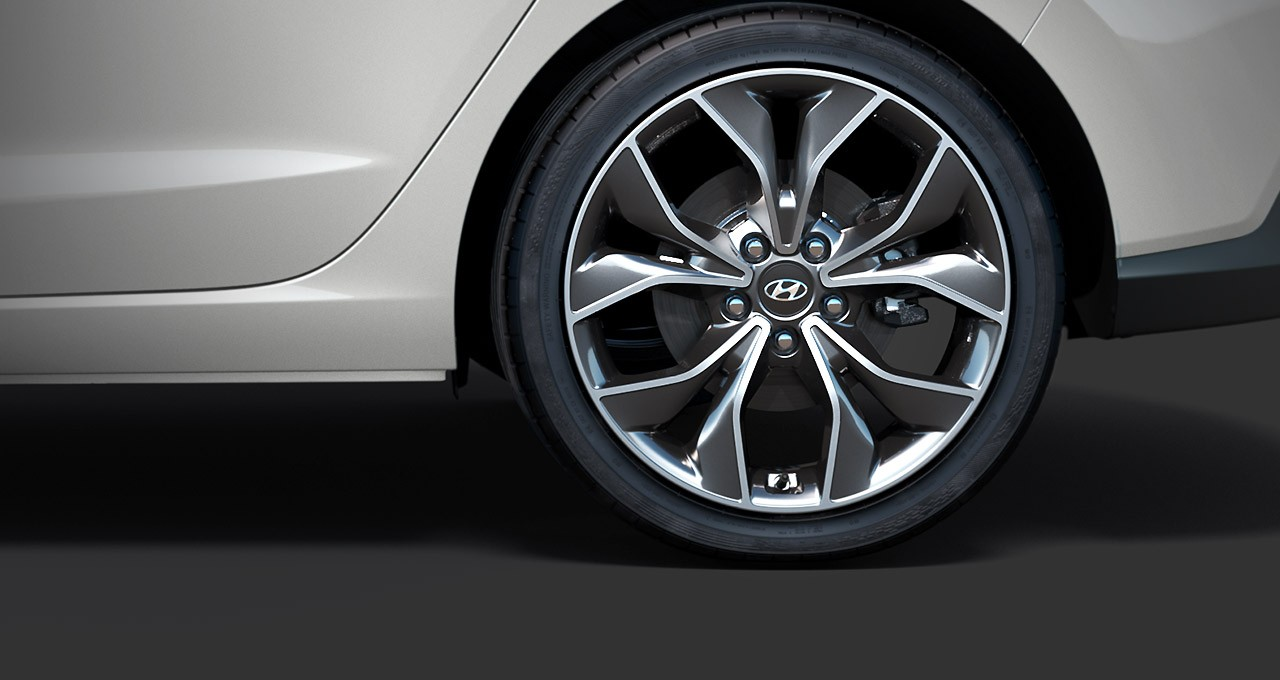 "18"" alloy wheels and performance tyres"