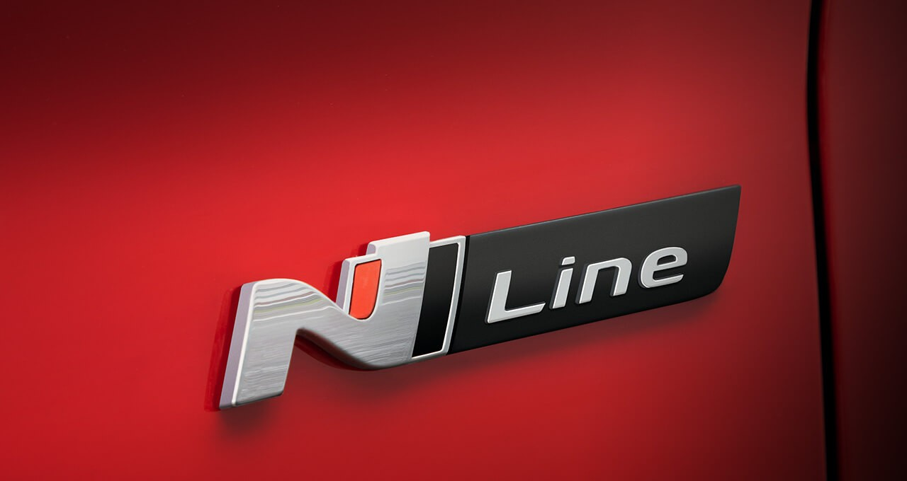 N Line badge and accents